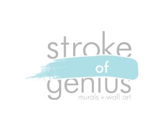 Stroke of Genius Murals Logo